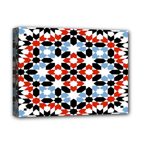 Morrocan Fez Pattern Arabic Geometrical Deluxe Canvas 16  x 12