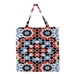 Morrocan Fez Pattern Arabic Geometrical Grocery Tote Bag