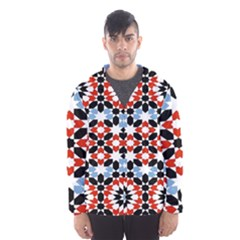Morrocan Fez Pattern Arabic Geometrical Hooded Wind Breaker (Men)