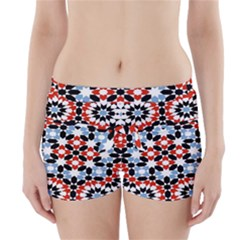 Morrocan Fez Pattern Arabic Geometrical Boyleg Bikini Wrap Bottoms