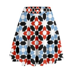 Morrocan Fez Pattern Arabic Geometrical High Waist Skirt