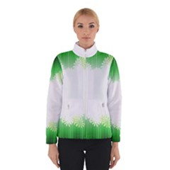 Green Floral Stripe Background Winterwear