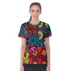 Patchwork Collage Women s Cotton Tee