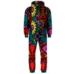 Patchwork Collage Hooded Jumpsuit (Men)