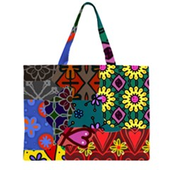 Patchwork Collage Large Tote Bag