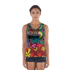 Patchwork Collage Women s Sport Tank Top