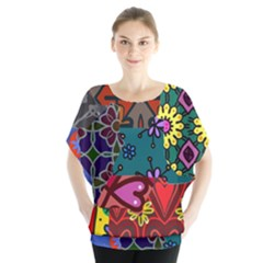 Patchwork Collage Blouse