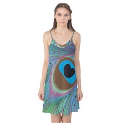 Peacock Feather Lines Background Camis Nightgown
