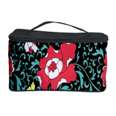 Vintage Floral Wallpaper Background Cosmetic Storage Case