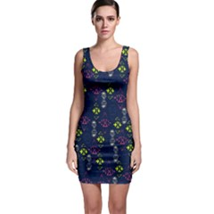 Vintage Unique Pattern Sleeveless Bodycon Dress