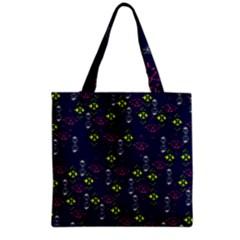 Vintage Unique Pattern Grocery Tote Bag