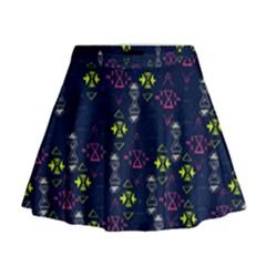 Vintage Unique Pattern Mini Flare Skirt