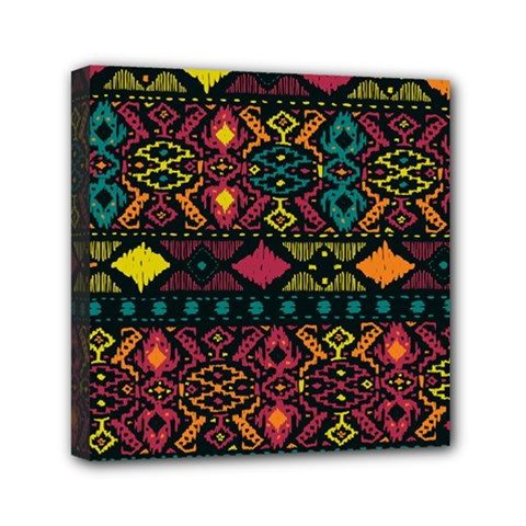 Traditional Art Ethnic Pattern Mini Canvas 6  x 6
