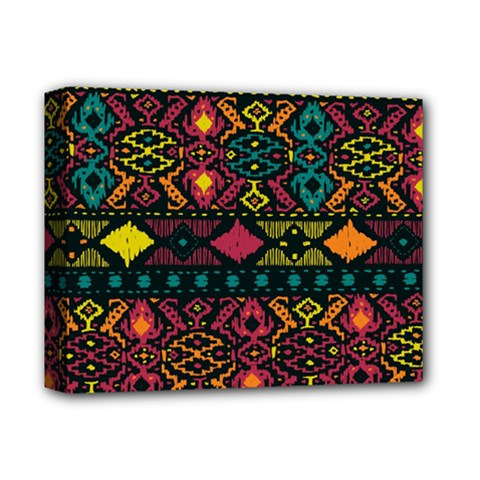 Traditional Art Ethnic Pattern Deluxe Canvas 14  x 11