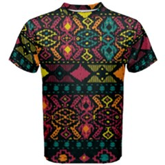 Traditional Art Ethnic Pattern Men s Cotton Tee