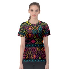 Traditional Art Ethnic Pattern Women s Sport Mesh Tee