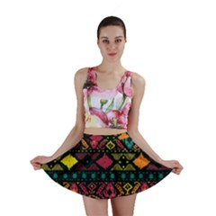 Traditional Art Ethnic Pattern Mini Skirt