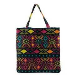 Traditional Art Ethnic Pattern Grocery Tote Bag