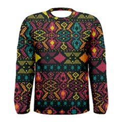 Traditional Art Ethnic Pattern Men s Long Sleeve Tee