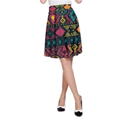 Traditional Art Ethnic Pattern A-Line Skirt