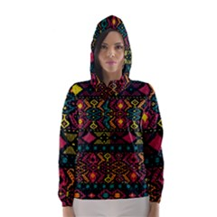 Traditional Art Ethnic Pattern Hooded Wind Breaker (Women)