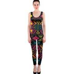 Traditional Art Ethnic Pattern OnePiece Catsuit