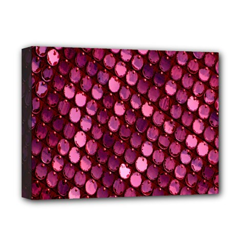 Red Circular Pattern Background Deluxe Canvas 16  x 12