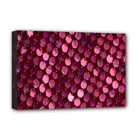 Red Circular Pattern Background Deluxe Canvas 18  x 12
