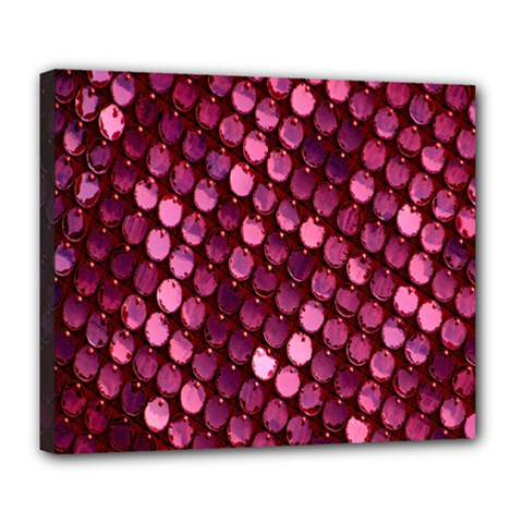 Red Circular Pattern Background Deluxe Canvas 24  x 20