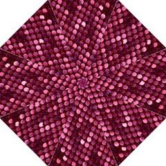 Red Circular Pattern Background Golf Umbrellas