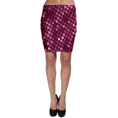 Red Circular Pattern Background Bodycon Skirt
