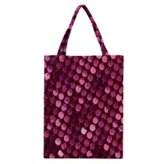 Red Circular Pattern Background Classic Tote Bag