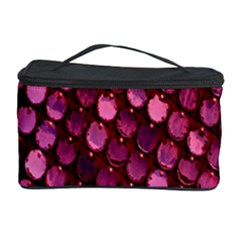Red Circular Pattern Background Cosmetic Storage Case