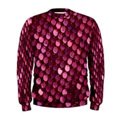 Red Circular Pattern Background Men s Sweatshirt