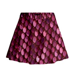 Red Circular Pattern Background Mini Flare Skirt
