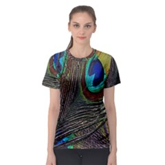 Peacock Feathers Women s Sport Mesh Tee