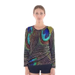 Peacock Feathers Women s Long Sleeve Tee