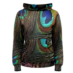 Peacock Feathers Women s Pullover Hoodie