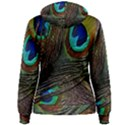 Peacock Feathers Women s Pullover Hoodie View2