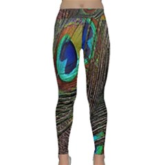 Peacock Feathers Classic Yoga Leggings