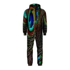 Peacock Feathers Hooded Jumpsuit (Kids)