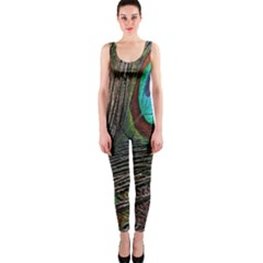 Peacock Feathers OnePiece Catsuit