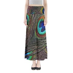 Peacock Feathers Maxi Skirts