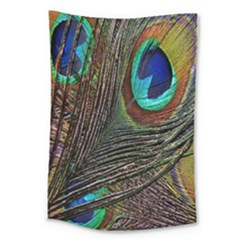 Peacock Feathers Large Tapestry