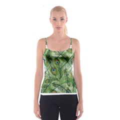 Peacock Feathers Pattern Spaghetti Strap Top