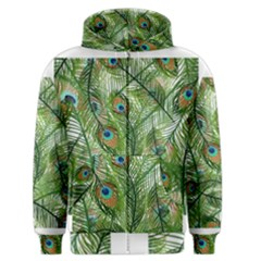 Peacock Feathers Pattern Men s Zipper Hoodie