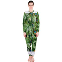 Peacock Feathers Pattern OnePiece Jumpsuit (Ladies)