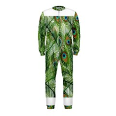Peacock Feathers Pattern OnePiece Jumpsuit (Kids)