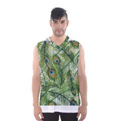 Peacock Feathers Pattern Men s Basketball Tank Top