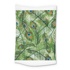 Peacock Feathers Pattern Small Tapestry